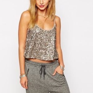 Abercrombie and Fitch sequin cami